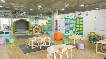 Symbolbild Innenansicht eines leeren Kindergartens.