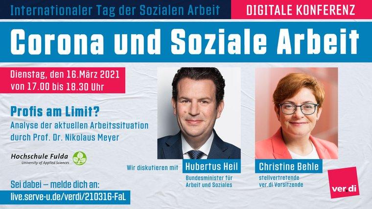Veranstaltung, Sozial -und Erziehungsdienst, Soziale Arbeit, Hubertus Heil, Christine Behle, Behindertenhilfe